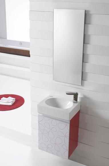 Conjunto de mueble de ba o ice 40 rojo ref 17447591 - Muebles de bano rojos ...