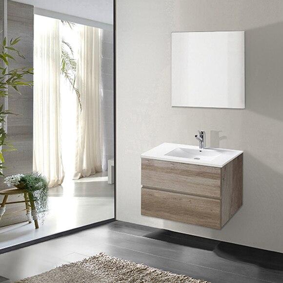 Muebles De Baño Color Roble Claro : Conjunto de mueble ba?o chicago roble claro ref
