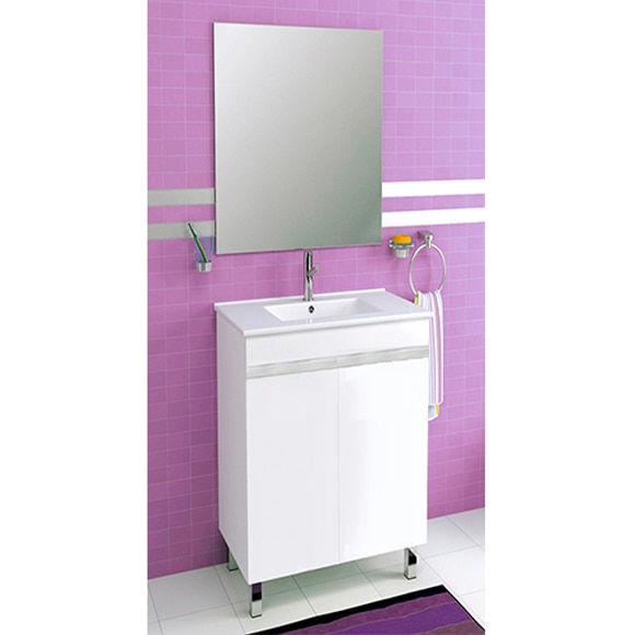 Conjunto de mueble de ba o venus 60 blanco ref 81908241 for Muebles de bano 60 x 45