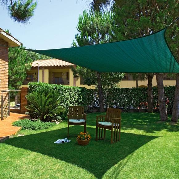 Vela de sombreo 3 6 x 3 6 m verde ref 17654210 leroy merlin - Toldos de jardin ...
