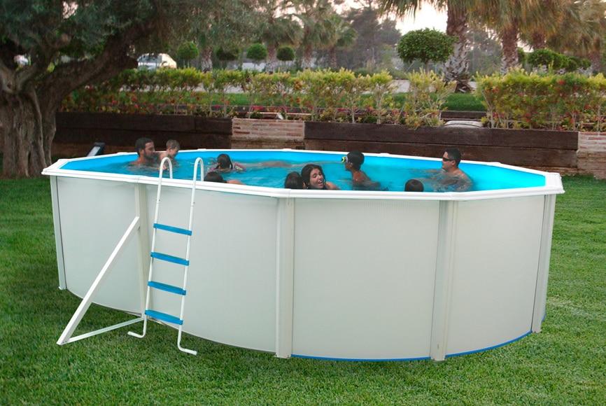 Piscina ovalada 550x366x120 cm ref 17782520 leroy merlin - Depuradora piscina leroy merlin ...