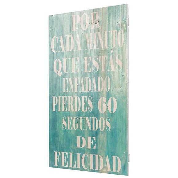 Cuadro madera felicidad ref 17925761 leroy merlin - Cuadros y laminas leroy merlin ...