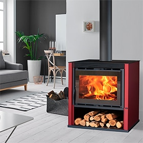 - Estufa de leña CAMBRIDGE 7,4KW