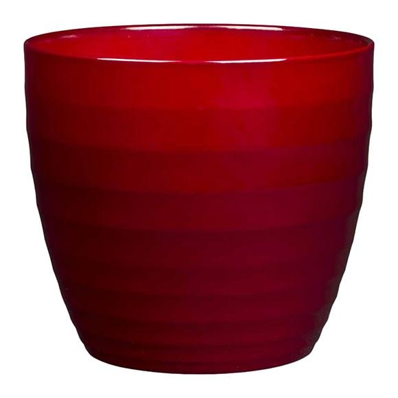 Maceta de cer mica gloss rojo ref 17144575 leroy merlin - Ceramica leroy merlin ...