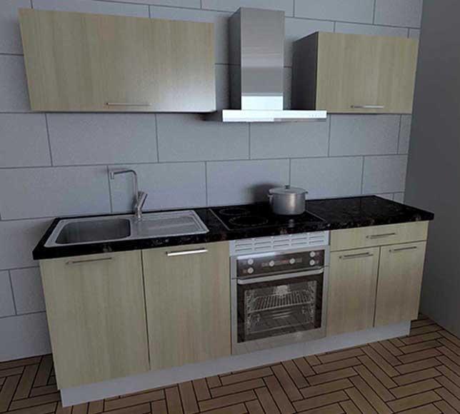 Cocina en kit TULUM 220CM Ref. 81967397 - Leroy Merlin