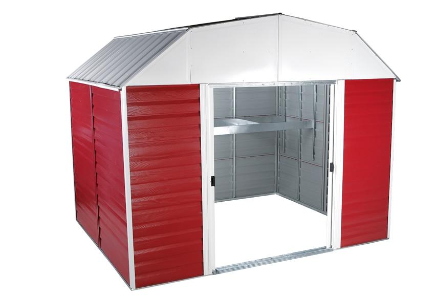 Caseta metal de 6 87 m2 barn rh 108 ref 13545154 leroy for Caseta acero galvanizado