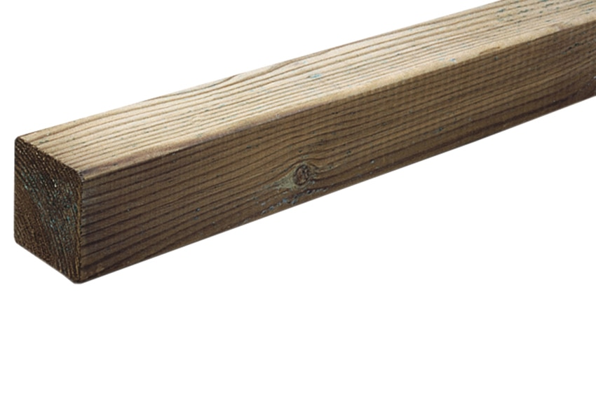 Poste de madera cuadrado tintado ref 13779262 leroy merlin - Postes de madera leroy merlin ...