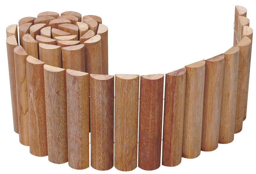 Bordura de madera bangkirai 180x20 cm ref 14658406 for Bordura leroy merlin