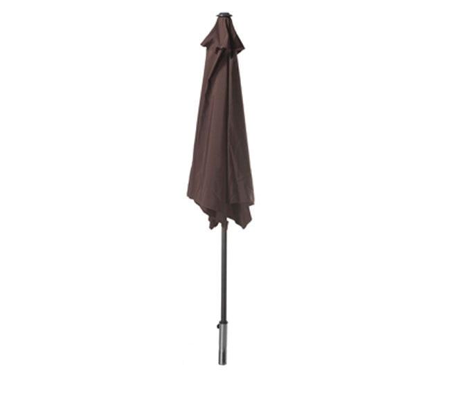 Parasol de acero con toldo de 270 cm chocolate ref 14878066 leroy merlin - Leroy merlin parasol deporte ...