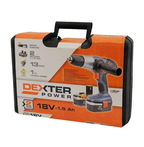 Taladro percutor sin cable dexter power3 18v ref 15005536 - Mini taladro leroy merlin ...