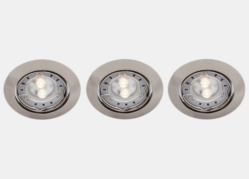 Pack de 3 focos empotrables inspire ref 15630902 leroy - Focos led exterior leroy merlin ...