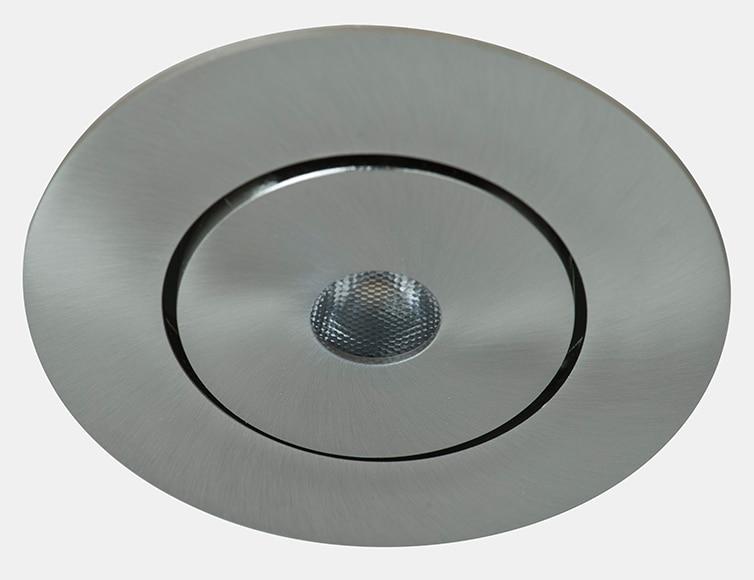Foco empotrable led redondo cromo ref 16069655 leroy merlin for Focos led exterior leroy merlin