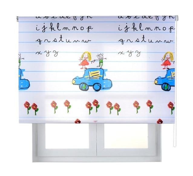 Estor enrollable 75 x 190 cm cuadernito ref 15713544 - Estores infantiles leroy merlin ...