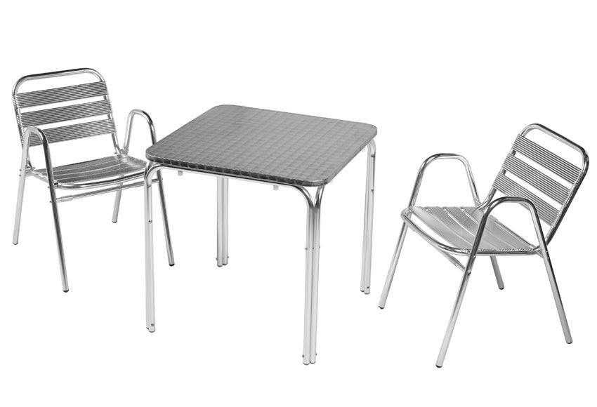 Mesa de aluminio sol ref 17814125 leroy merlin for Mesa plegable las palmas