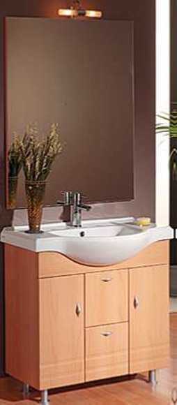 Conjunto de mueble de ba o noe ref 16372671 leroy merlin for Outlet muebles tarragona