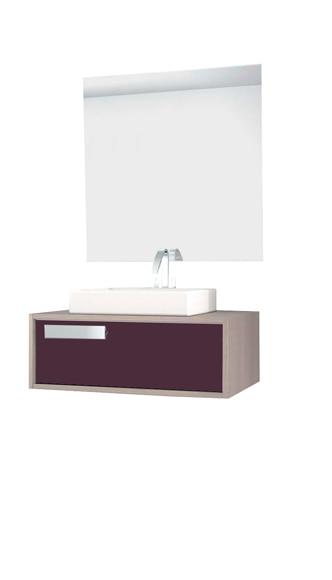Mueble de baño ZEN ARCE BERENJENA CON TAPA Ref 16709994  Leroy