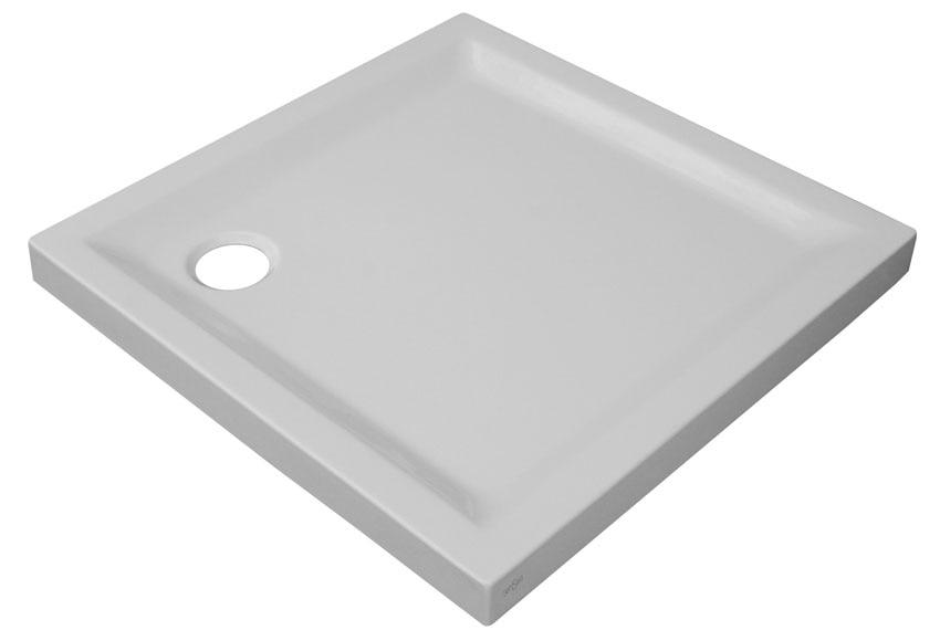 Plato de ducha houston cuadrado 80x80 ref 14730821 - Leroy merlin platos de ducha ...