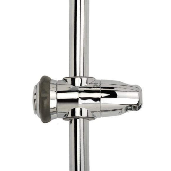 Combinado de ducha con grifo termost tico cuadrado ref for Grifo termostatico ducha leroy merlin