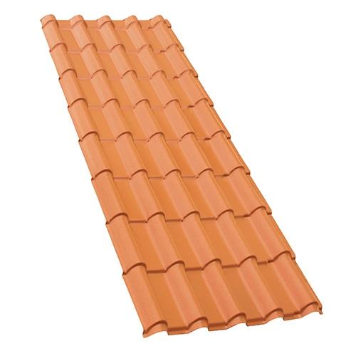 Placa imitaci n teja francia ref 16320213 leroy merlin for Plastico para tejados