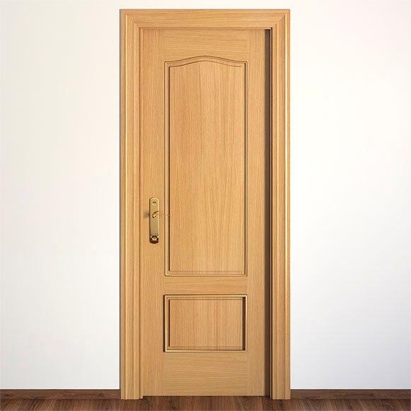 Puerta de interior maciza roma roble ref 13396432 leroy for Puertas de roble interior
