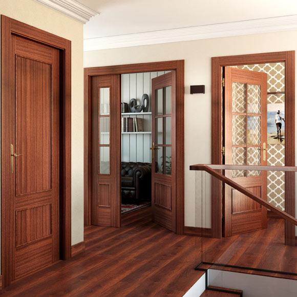 Puerta de interior maciza atenas sapelly ref 15719305 for Puertas madera maciza interior