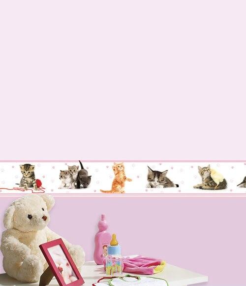 Cenefa infantil de papel gatitos ref 15629656 leroy merlin - Cenefas adhesivas leroy merlin ...