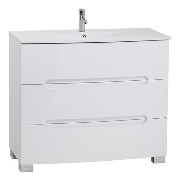 Mueble de lavabo elipse 100 blanco ref 16703092 leroy for Mueble microondas leroy merlin