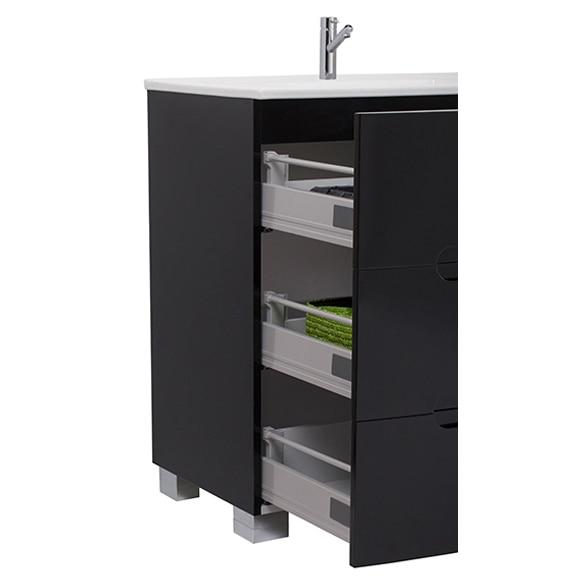 Mueble de lavabo elipse 100 negro ref 16703113 leroy merlin for Mueble fregadero leroy merlin
