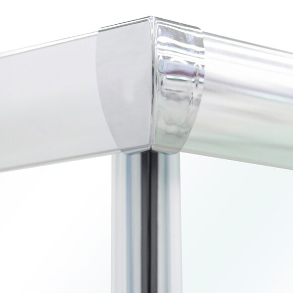 Mampara de ducha mezzo rectangular transparente cromo ref for Metacrilato transparente leroy merlin