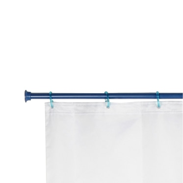 Barra para la cortina de la ducha sensea extensible azul 75 135 ref 13686743 leroy merlin - Barras de cortina leroy merlin ...