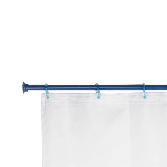 Barra para la cortina de la ducha sensea extensible azul - Barra extensible cortina ...
