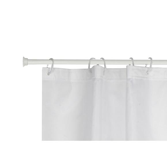Barra para la cortina de la ducha sensea extensible blanco - Barra extensible cortina ...