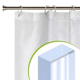 Cortina de ba o boston 180x200 transparente ref 17071761 for Barra cortina ducha angular sin tornillos
