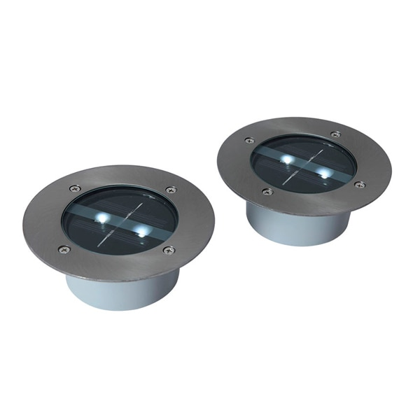Pack de 2 focos solares inspire grenada led ref 16071062 for Focos led exterior leroy merlin