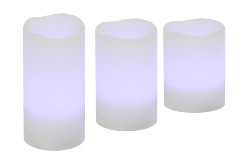 pack de 3 velas rgb ref 17389120 leroy merlin