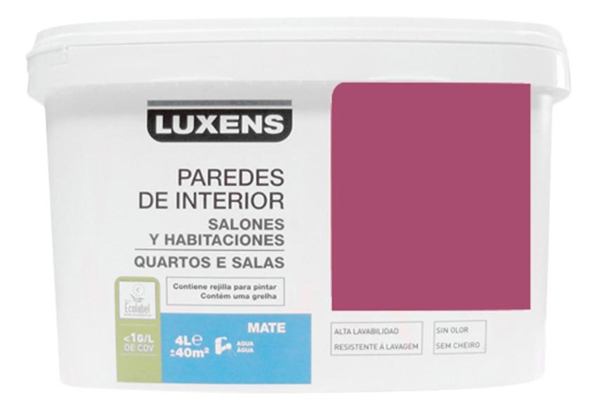 Pintura de color para paredes y techos LUXENS ROSA SHOCK 3 ...