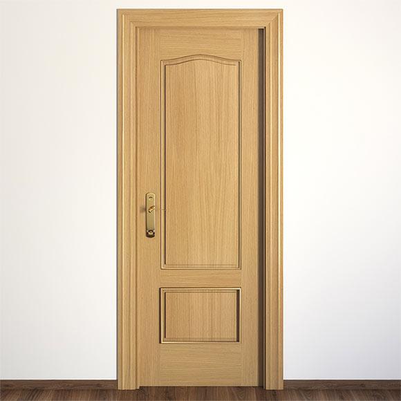 Puerta de interior maciza roma roble ref 13396432 leroy for Puerta de roble macizo castorama