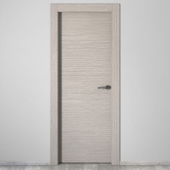 Puerta de interior maciza viena roble gris ref 16778853 - Puertas de interior leroy merlin ...