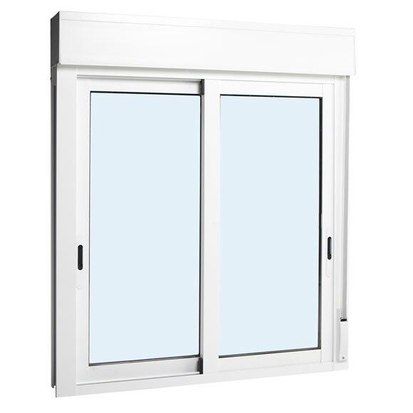 Ventana ventana aluminio rpt 2hojas corredera persiana ref - Estores leroy merlin medidas ...