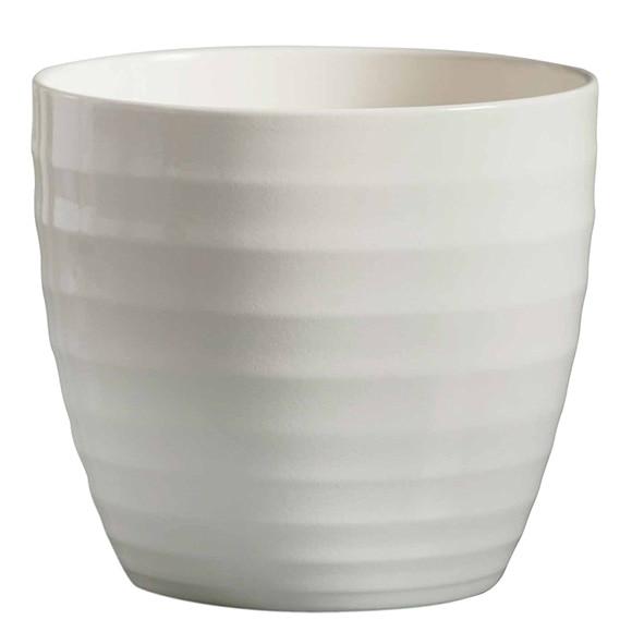 Maceta de cer mica gloss blanco ref 17144533 leroy merlin - Ceramica leroy merlin ...