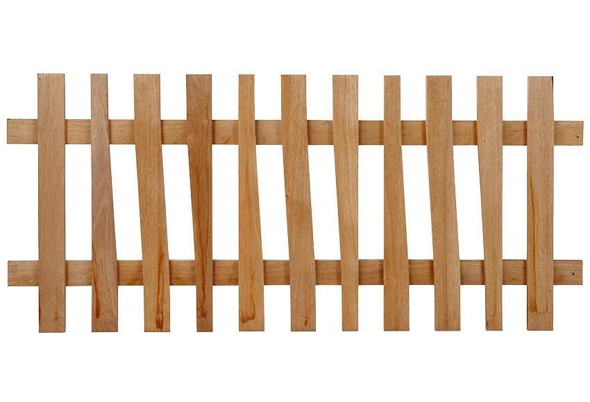 Valla de madera madera justa valla curves ref 16108890 - Valla de madera ...