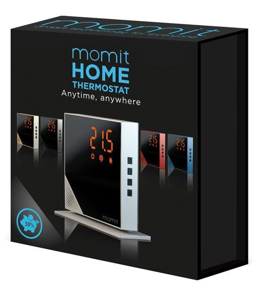 Termostato inteligente momit home pure black ref 19155871 for Termostato leroy merlin
