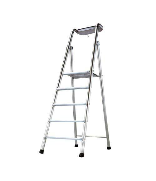 Escalera de aluminio artub probat 5p ref 15126986 leroy - Escaleras aluminio leroy merlin ...