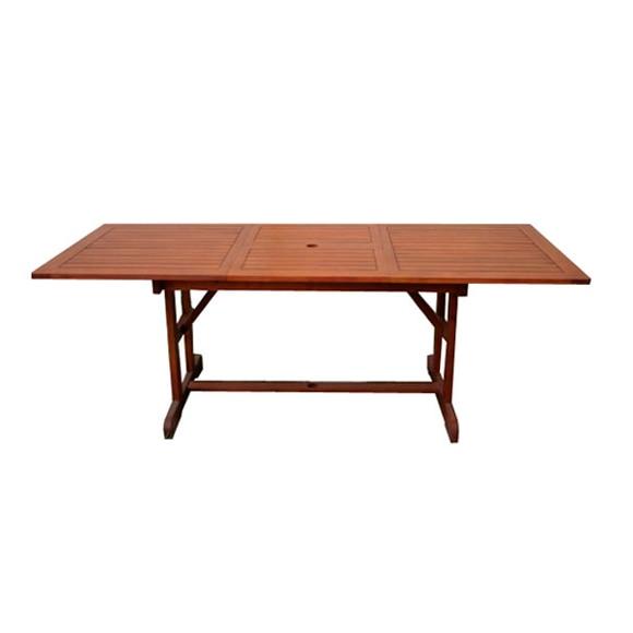 Mesa extensible de madera de acacia acacia rectangular ref - Mesa acacia extensible ...