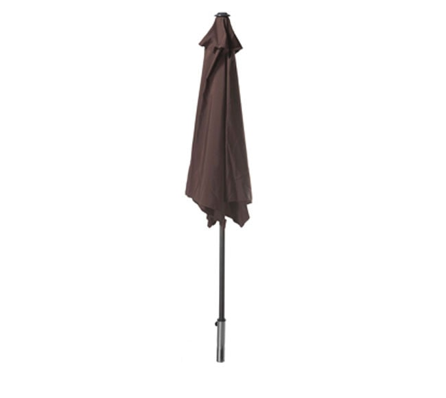 parasol de acero con toldo chocolate ref 14878066 leroy merlin. Black Bedroom Furniture Sets. Home Design Ideas