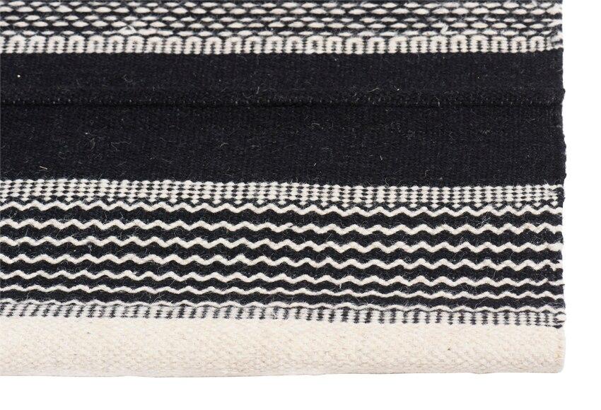 Alfombra oriental 120 x 180 cm kilim black white ref for Tappeti kilim leroy merlin