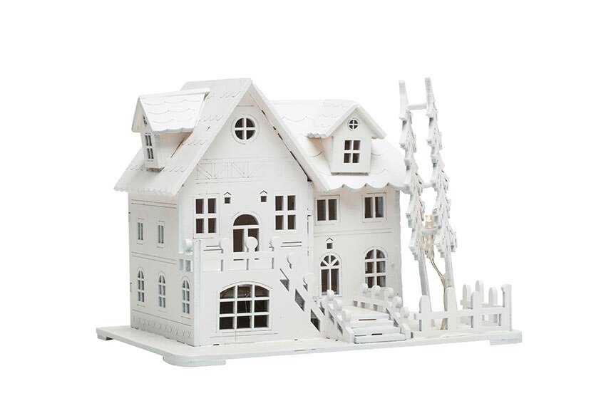 Casa de madera 5 led 20x14 5x15cm ref 17750670 leroy merlin - Casas de madera leroy merlin ...