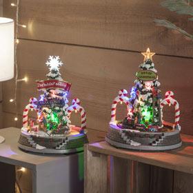 8ce4fad29be Ciudad de Navidad LED Xmas 19x19x24cm