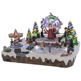 aff2b98deba Ciudad de Navidad LED feria 35x29x22cm