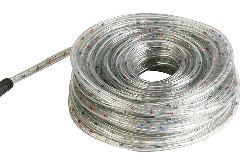 tubo flexible luminoso multicolor 20m ref 13660584